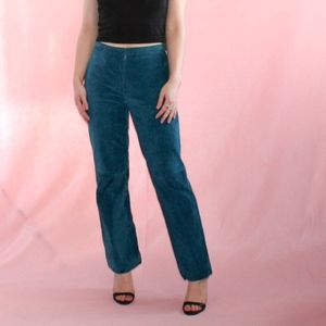 (270) VTG 1990s Grunge Blue Leather Pants